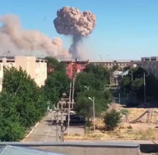 Мощный взрыв произошел в Арыси