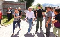 Ситуация у дома экс-президента Кыргызстана Алмазбека Атамбаева