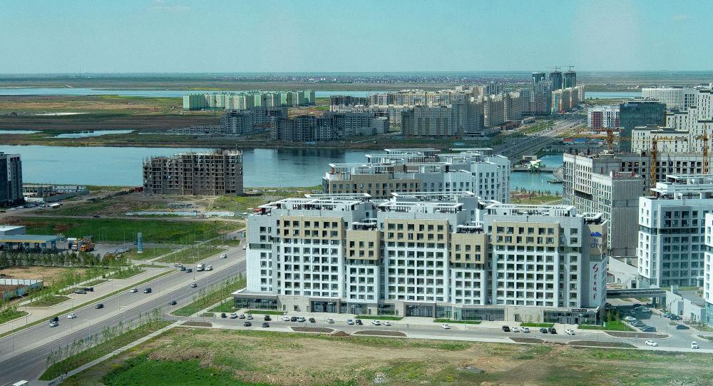 Астанадағы үйлер, архивтегі сурет