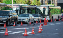 Ограждение на ремонтируемом участке дороги