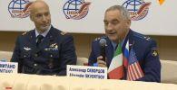 Пресс-конференция нового экипажа МКС перед полетом в Звездном городке