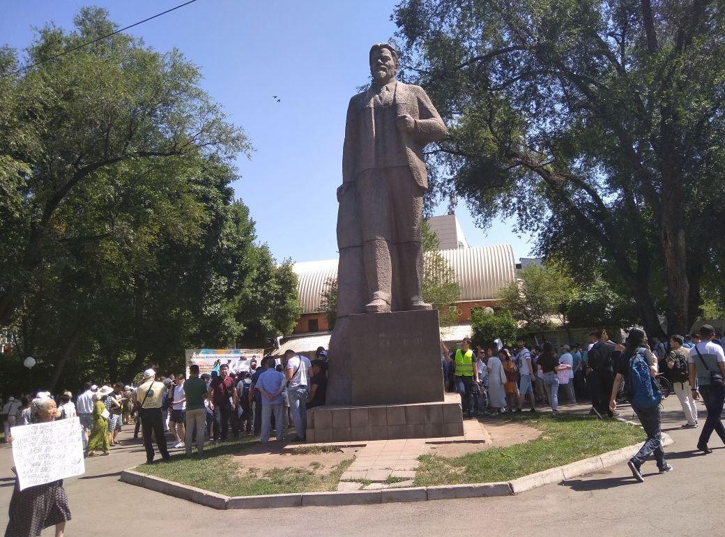 Санкционированный митинг в Алматы