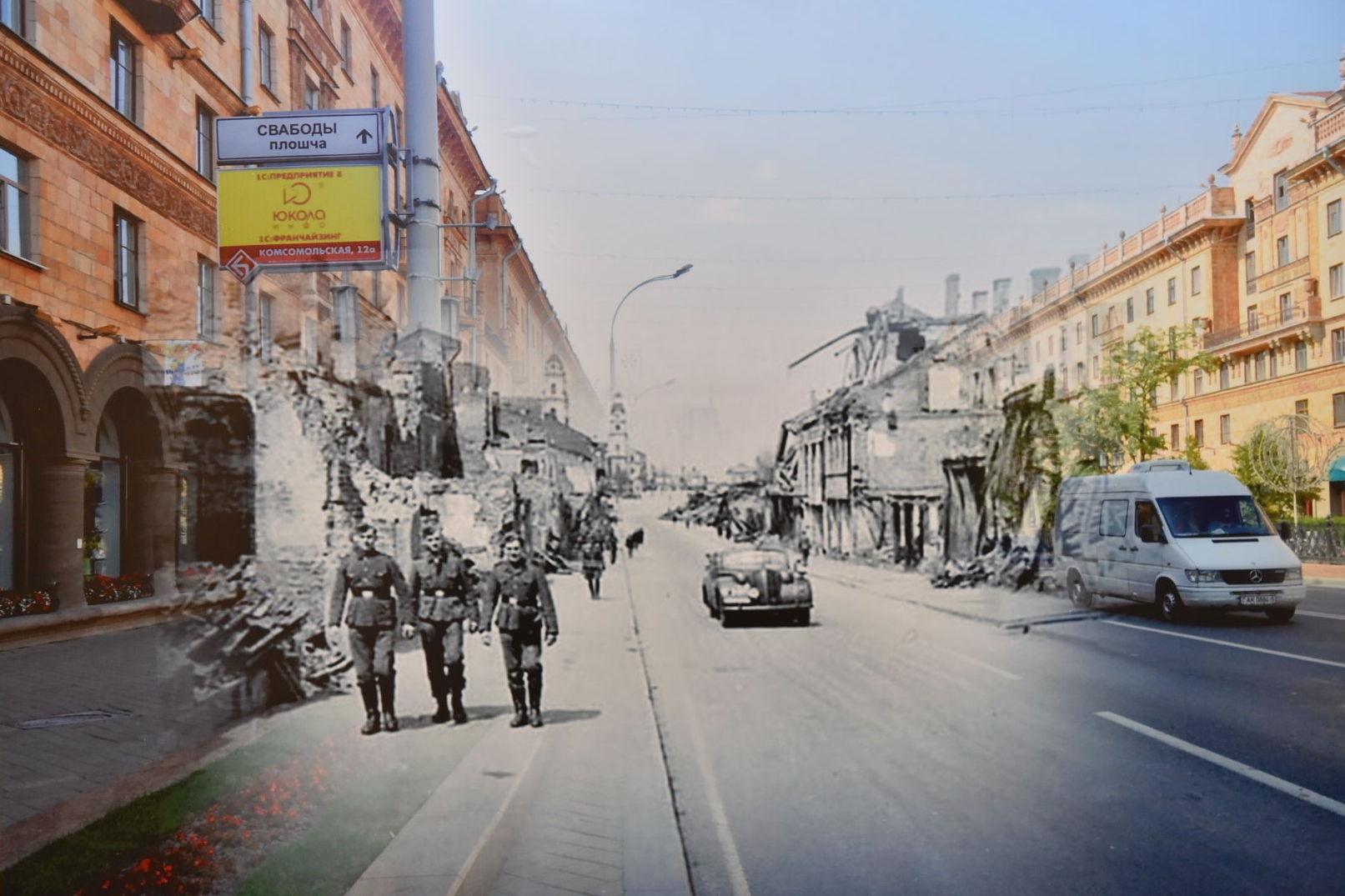 Выставка фотохудожника Сергея Ларенкова Крок да Перамогi (Шаг к Победе), посвященная 75-летию освобождения Беларуси от немецко-фашистских захватчиков открылась в столице