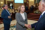 Сенатор Айгуль Капбарова на совместном заседании палат парламента по случаю закрытия парламентской сессии