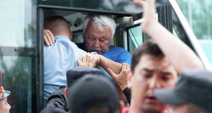 Митинг в Алматы в День столицы