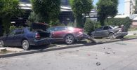 Пежо устроил массовую аварию на улице Абая