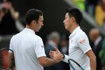 Казахстанский теннисист Михаил Кукушкин и японский Кеи Нисикори