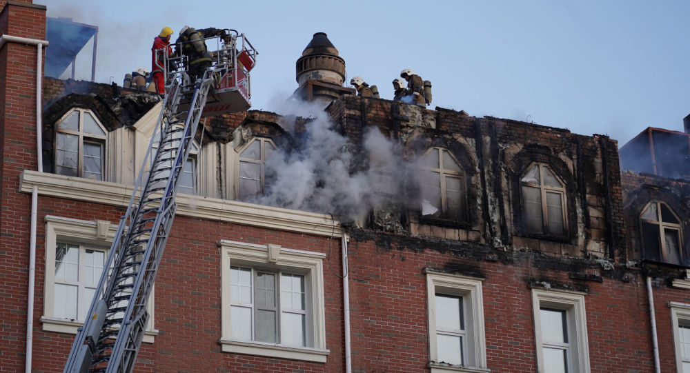 Пожар в ЖК Британский квартал