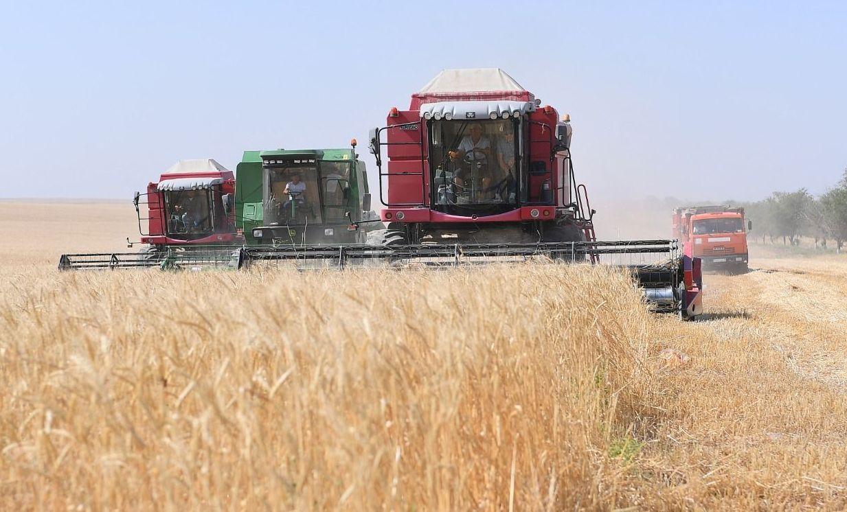 Аким Туркестанской области Умирзак Шукеев принял участие в уборке зерна