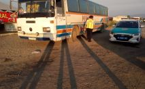 Автобус сломался на трассе в Алматинской области