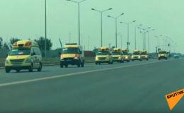 Парад скорых удивил жителей столицы Казахстана - видео