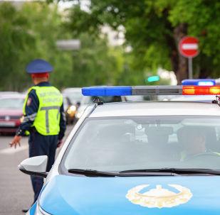 Полицейская машина, архивное фото