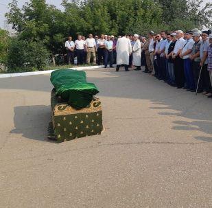Прощание с погибшим егерем Канышем Нуртазиновым