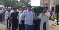 Прощание с погибшим инспектором Канышем Нуртазиновым - видео