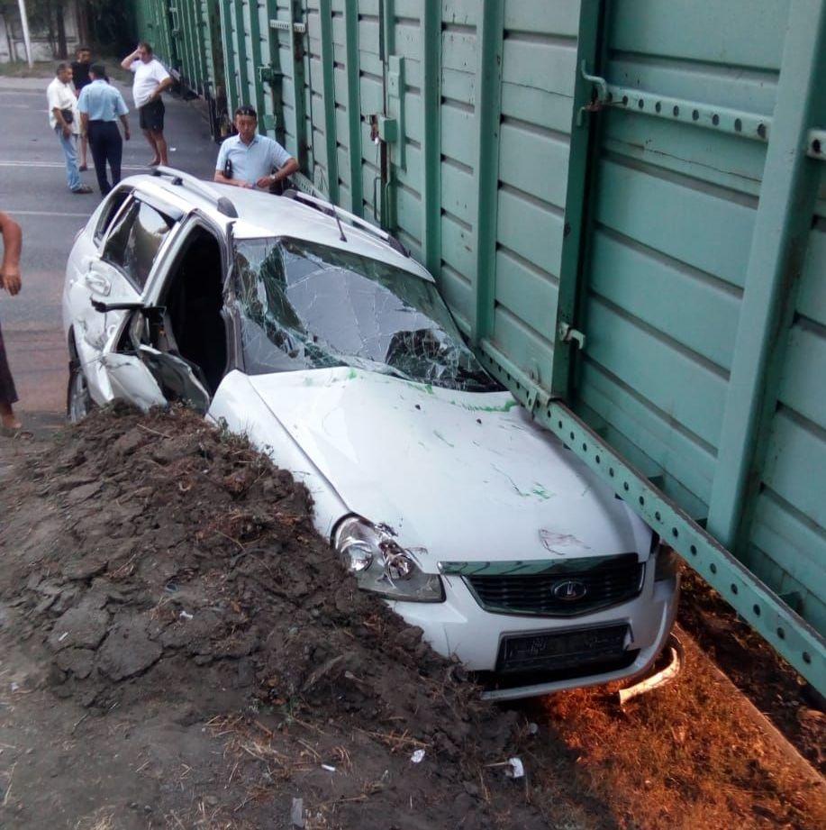 Лада попала под поезд на ул. Бекмаханова