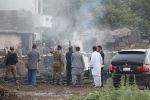 военный самолет во время учебного полета потерпел крушение в зоне застройки в гарнизонном городе Равалпинди, Пакистан
