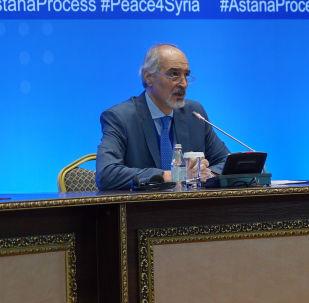Глава делегации правительства Сирии Башар Джафари