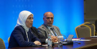 Делегация оппозиции Сирии (Ахмад Тома) на переговорах по сирийскому урегулированию 13 раунд