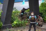 Тайские следователи осматривают место взрыва, в результате которого пострадали люди в Бангкоке, Таиланд, в пятницу, 2 августа 2019 года