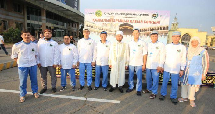 Представители хадж-миссии Казахстана в Мекке