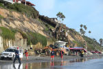 Скала обрушилась на людей на пляже в Калифорнии