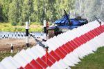 Танк Т-72Б3 казахстанской команды на Танковом биатлоне