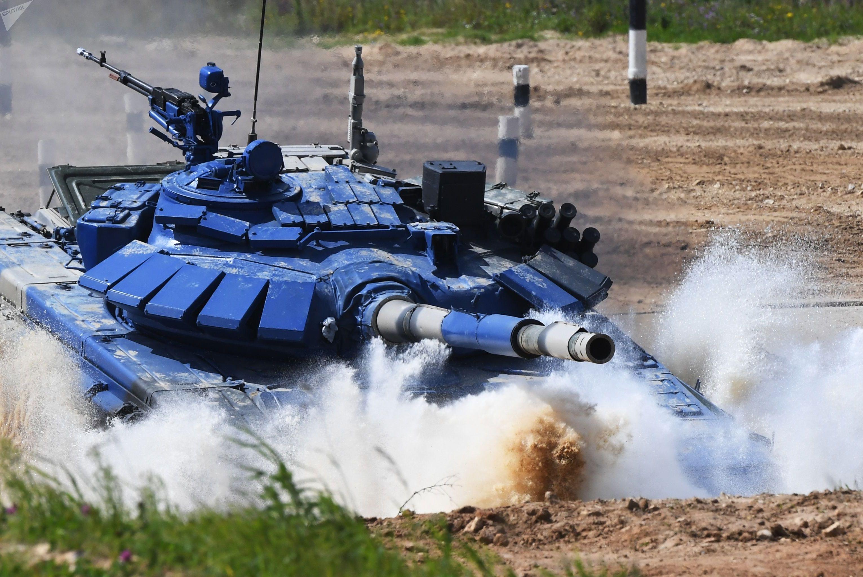 Команды из Кувейта проходит испытания Танкового биатлона