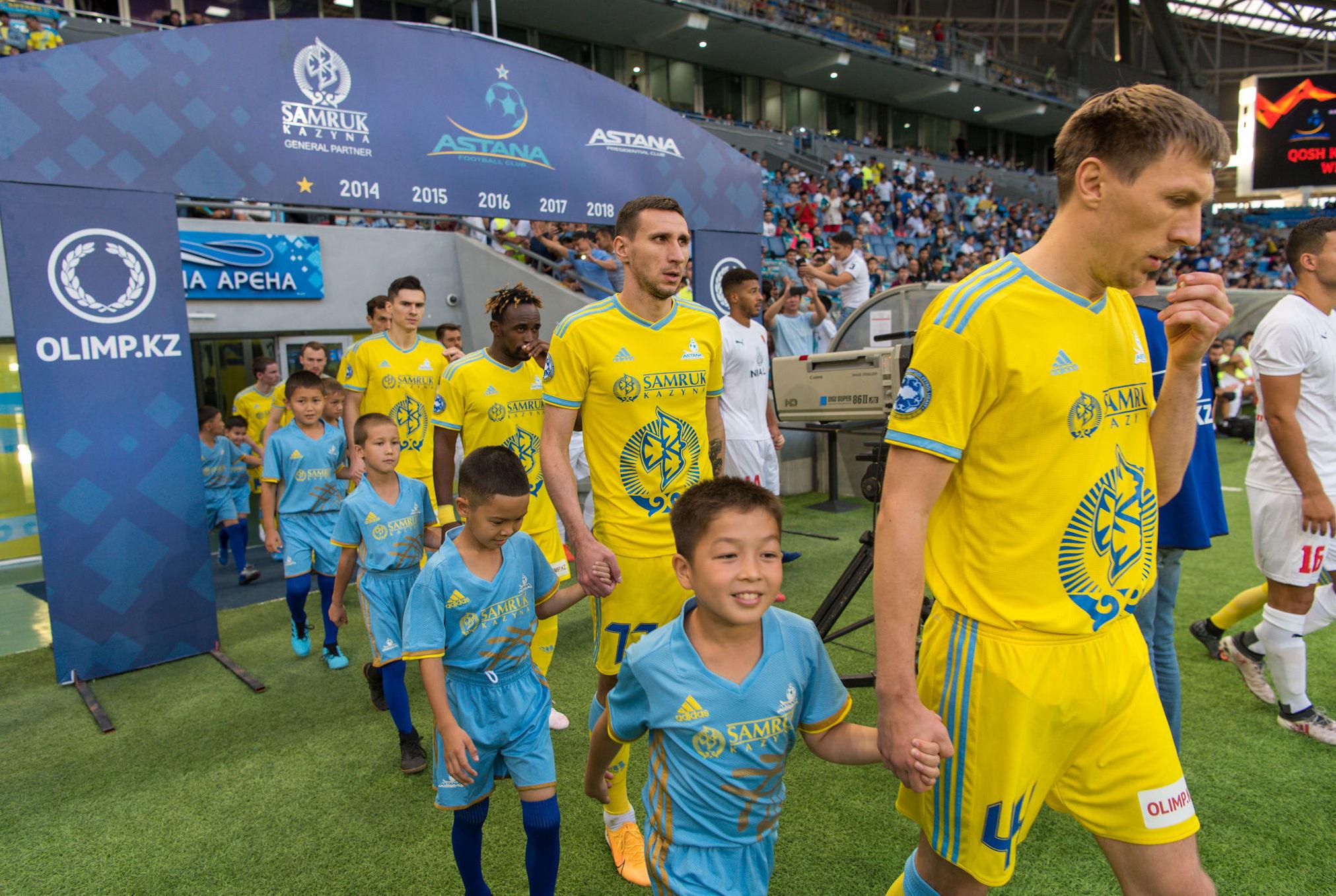 Матч Астана - Валетта прошел на столичном футбольном стадионе Астана Арена