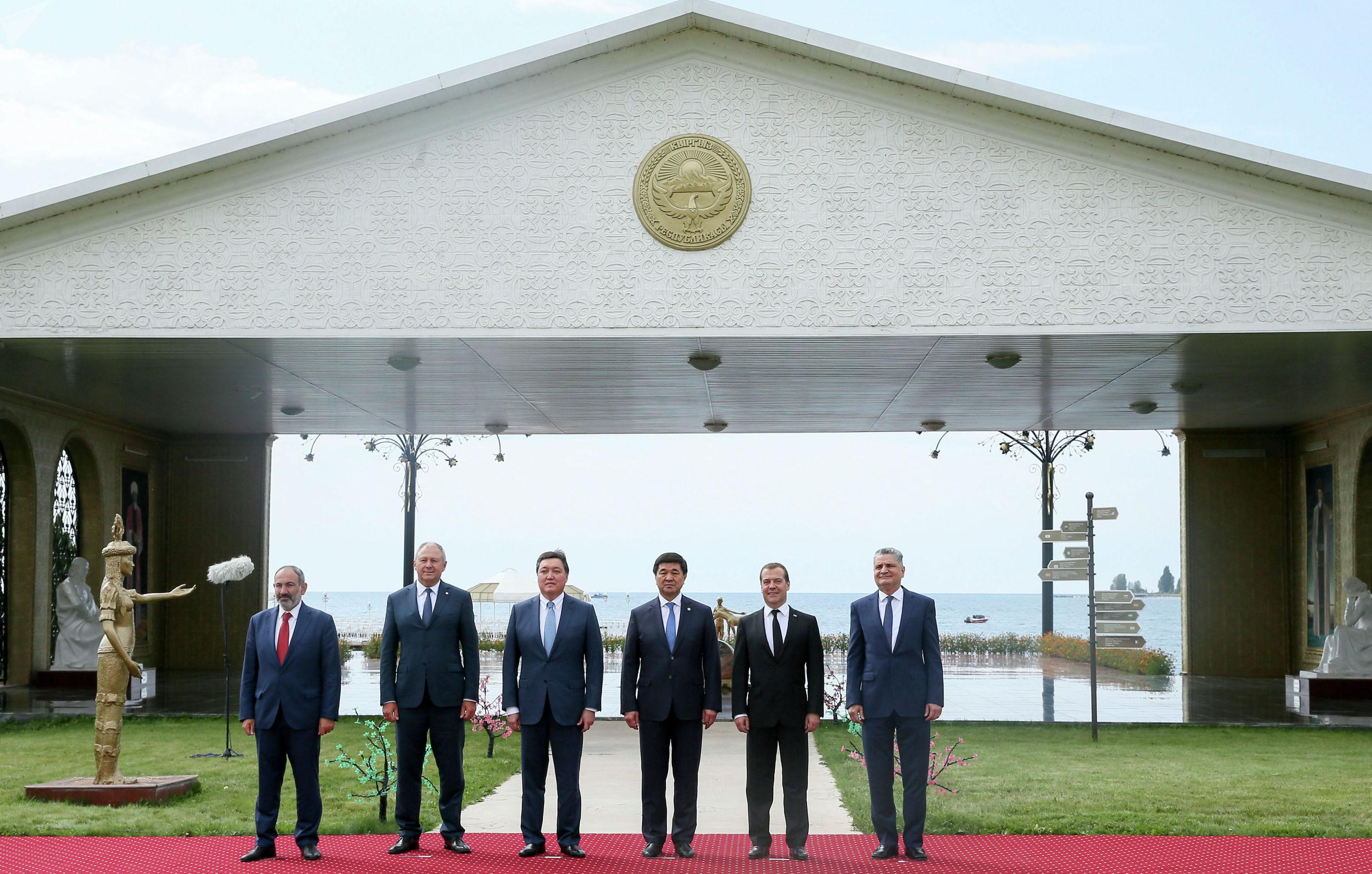 Юбилейное заседание Евразийского межправительственного совета в городе Чолпон-Ата (Кыргызстан)