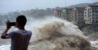 Тайфун Лекима в китайской провинции Чжэцзян