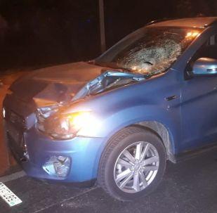 Мицубиси насмерть сбил пешехода на пр. Рыскулова