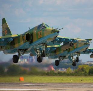 На одном из этапов конкурса летчики казахстанского Су-30СМ выполнили боевые стрельбы неуправляемыми авиационными ракетами лучше всех