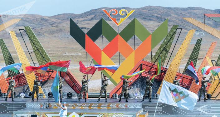 Закрытие казахстанской части международных Армейских игр-2019 на полигоне 40-й военной базы Отар в Казахстане