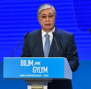Президент Касым-Жомарт Токаев на августовской конференции