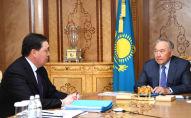Елбасы Нурсултан Назарбаев принял премьер-министра Аскара Мамина