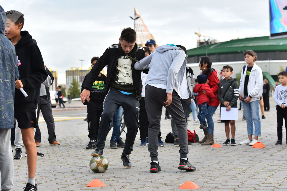 Болельщики перед игрой Астана - БАТЭ