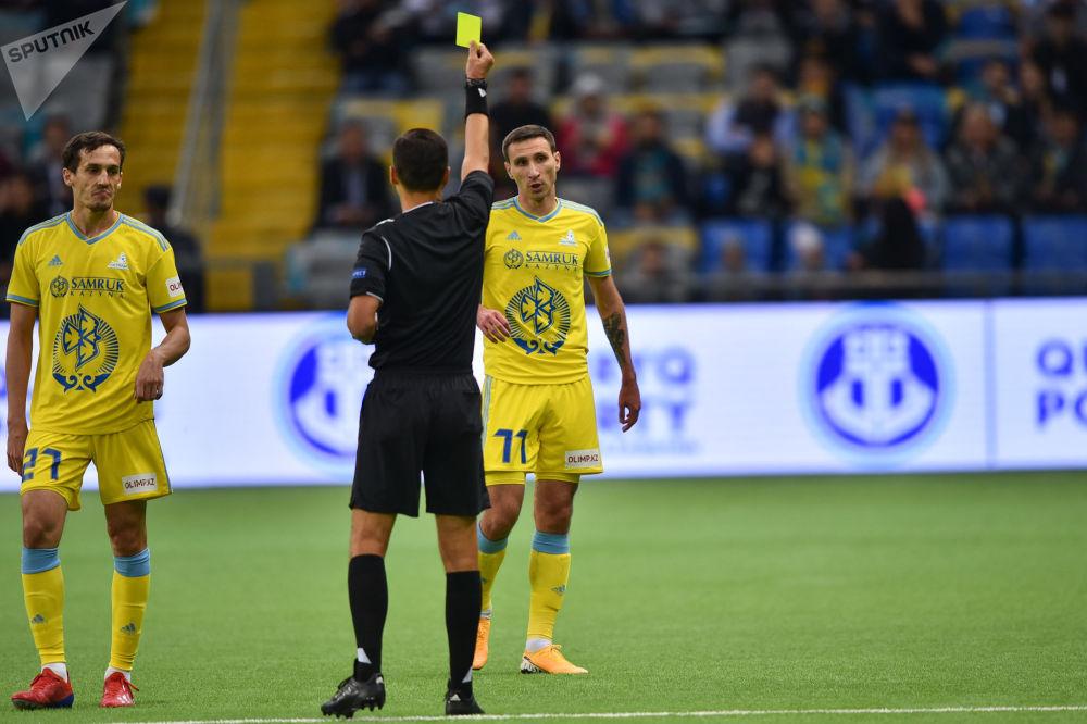 Желтая карточка игрокам Астаны