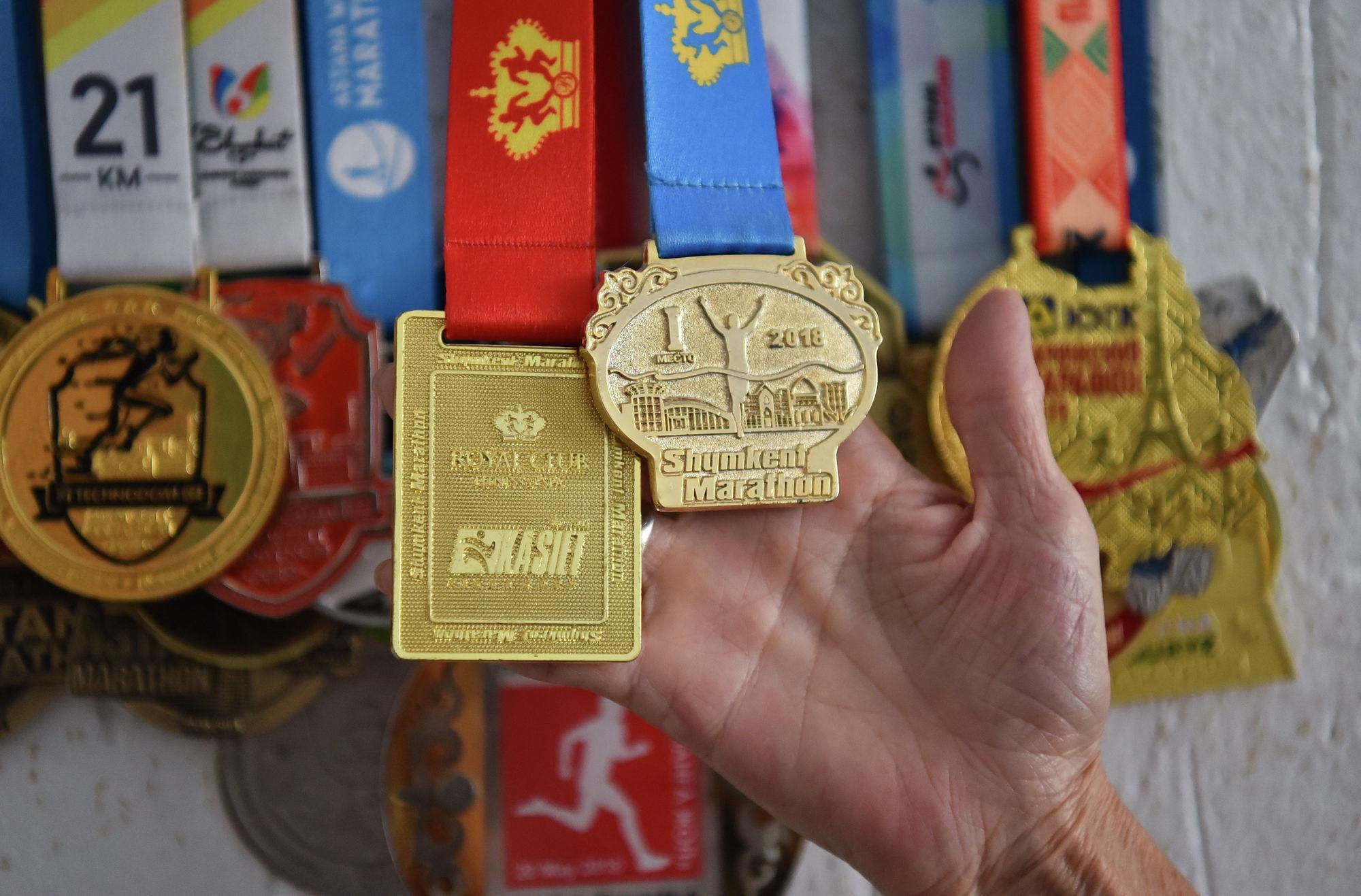 Медали за лучший результат классического марафона (Shymkent Marathon)