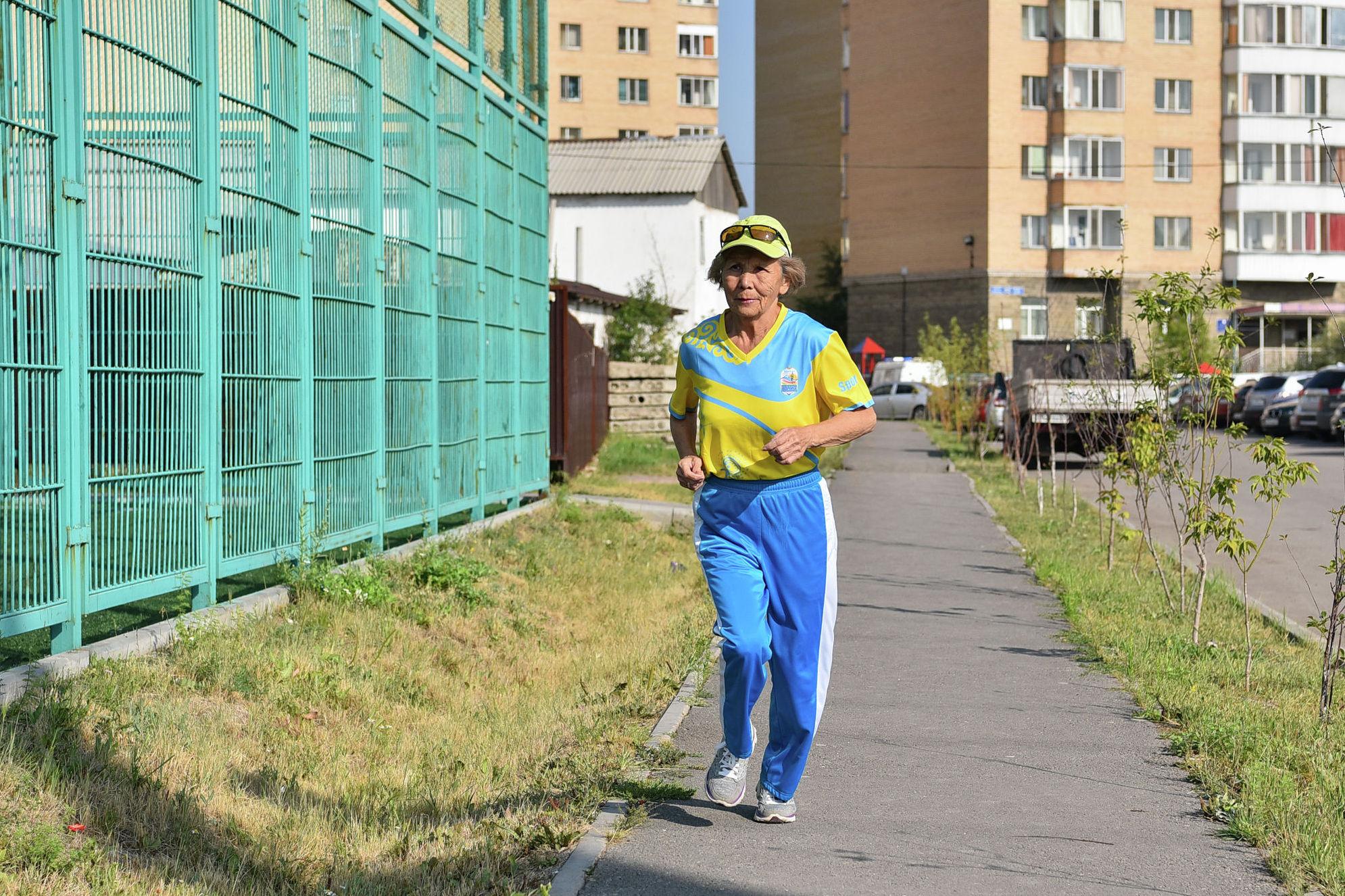 Амегульсин Калиакперовна старается на любой дистанции держать темп