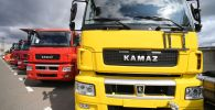 Новые грузовые тягачи КамАЗ 5490, собранные на заводе ПАО КамАЗ