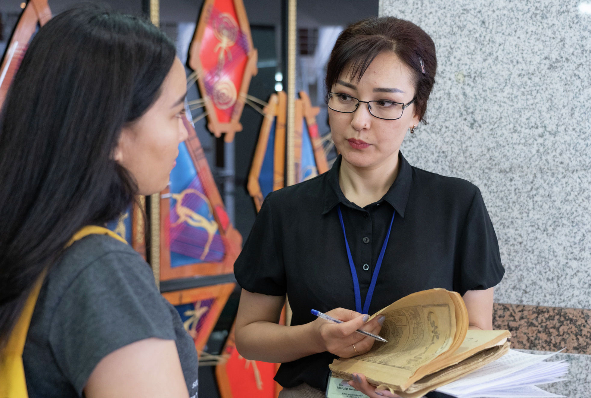 Руководитель музея книг Молдир Баймухамбетова