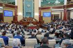 Президент Казахстана Касым-Жомарт Токаев выступает на совместном заседании палат парламента