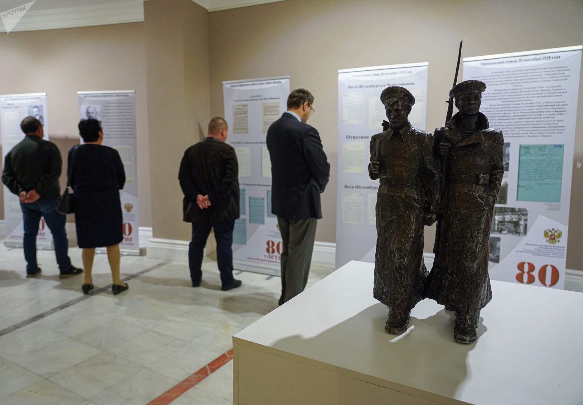 На историко-документальной выставке в посольстве Российской Федерации в Казахстане