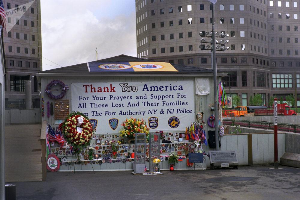 На месте Всемирного Торгового центра, взорванного террористами в Нью-Йорке 11 сентября 2001 года