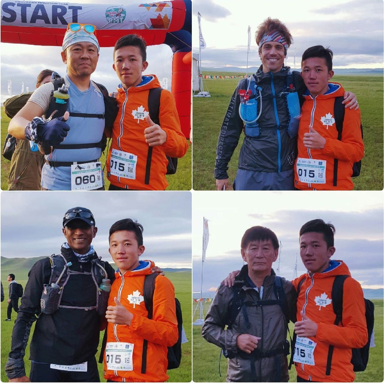 Америка, Жапония, Моңғолия және Франция марафоншыларымен бірге