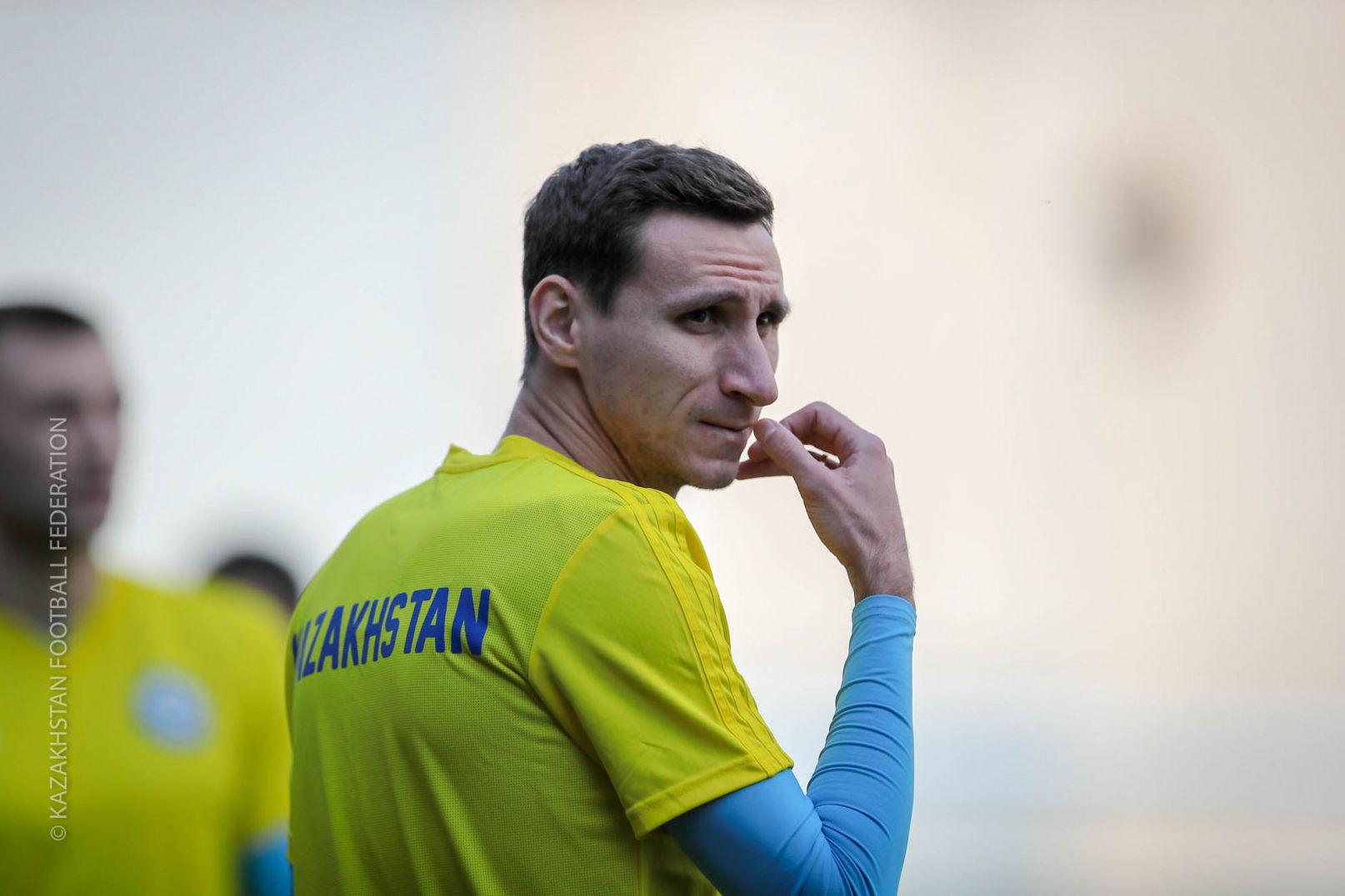 Тренировка сборной Казахстана перед матчем с Андоррой