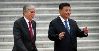 Президент Казахстана Касым-Жомарт Токаев (слева) и президент Китая Си Цзиньпин