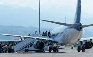 Стоянка Международного аэропорта Алматы