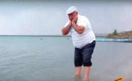 60-летний спортсмен-любитель из Армении переплыл озеро Севан