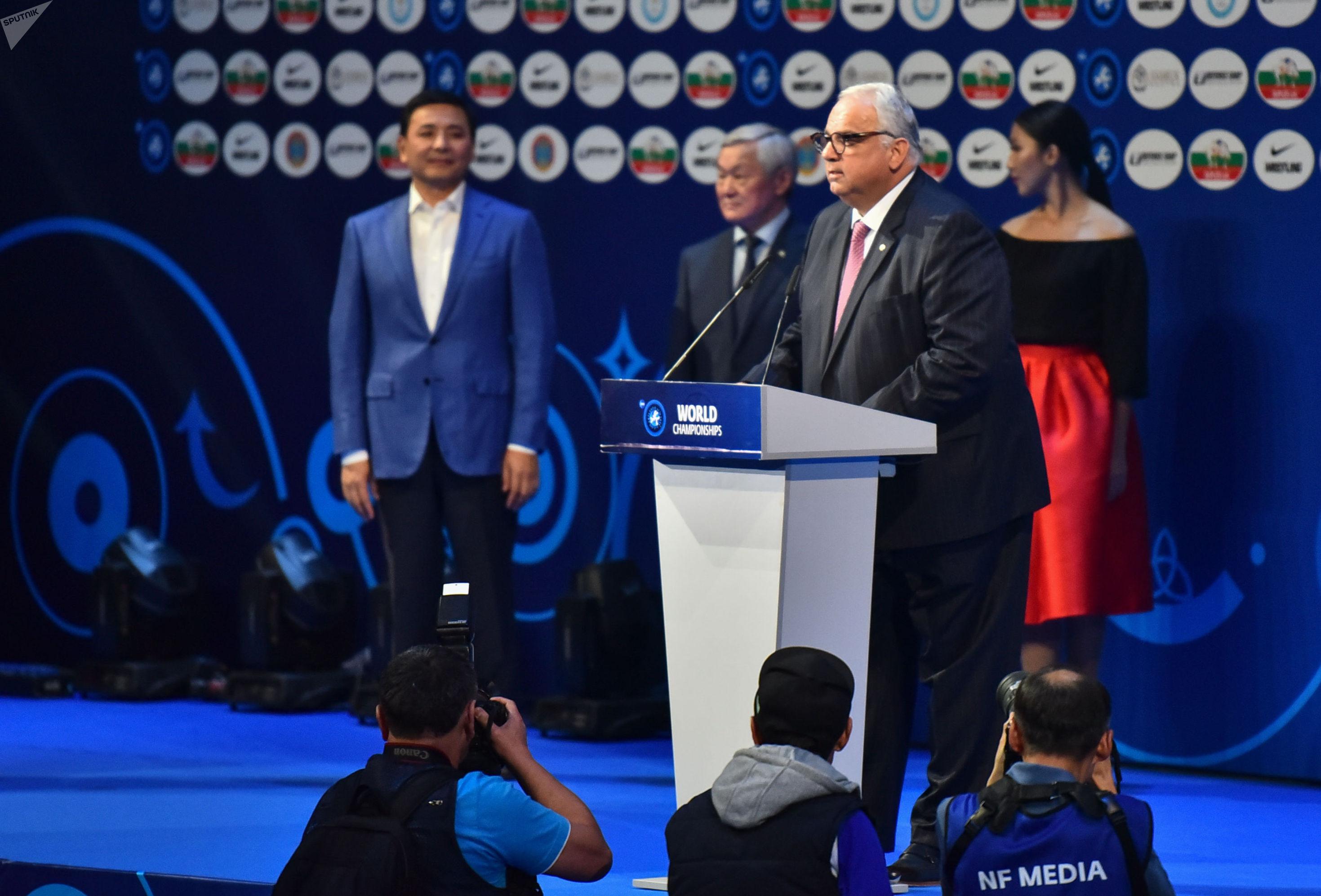 ЧМ по борьбе официально открыл президент Объединенной организации борьбы (UWW) Ненад Лалович